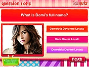 Quiz do you know Demi Lovato j�t�k